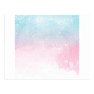 watercolor gradient ombre postcard