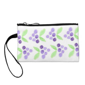 Watercolor Grape Wristlet
