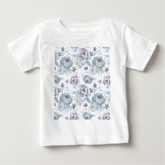 Watercolor Gray peony Pattern Baby T-Shirt