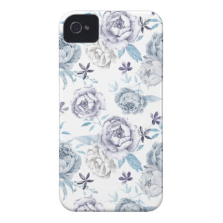 Watercolor Gray peony Pattern iPhone 4 Case-Mate Case
