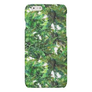Watercolor green fern forest fall pattern
