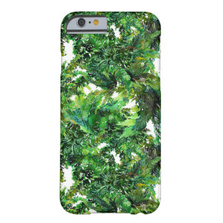Watercolor green fern forest fall pattern barely there iPhone 6 case