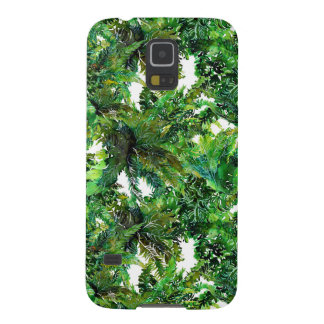 Watercolor green fern forest fall pattern case for galaxy s5