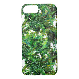 Watercolor green fern forest fall pattern Case-Mate iPhone case
