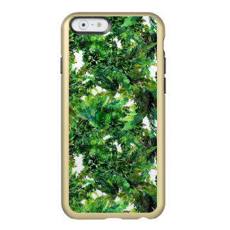 Watercolor green fern forest fall pattern incipio feather® shine iPhone 6 case
