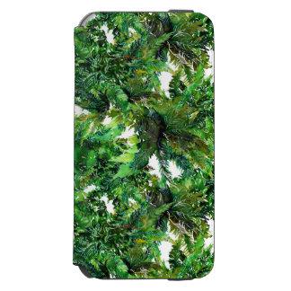 Watercolor green fern forest fall pattern incipio watson™ iPhone 6 wallet case