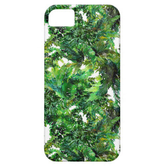 Watercolor green fern forest fall pattern iPhone 5 case