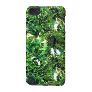 Watercolor green fern forest fall pattern iPod touch (5th generation) cover