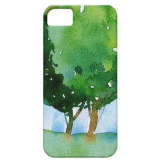 watercolor green trees. iPhone 5 case