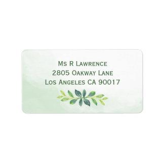 Watercolor Greenery Address Labels