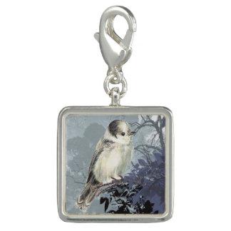 Watercolor Grey Jay Canada National Bird art Charm
