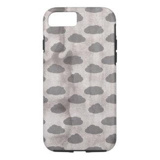 Watercolor Grey Modern Cloud Pattern iPhone 7 Case