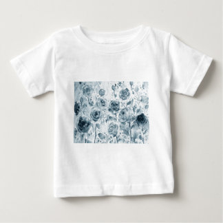 Watercolor grey rose pattern baby T-Shirt