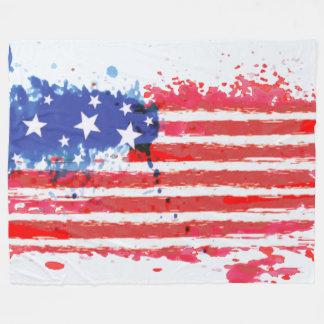 watercolor grunge American Flag blanket