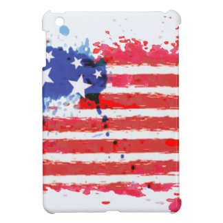 watercolor grunge American Flag Cover For The iPad Mini
