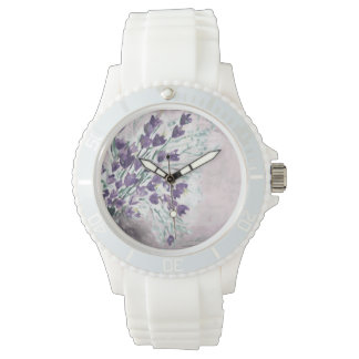 Watercolor grunge background with bells watch