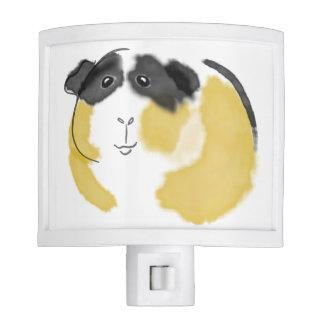 Watercolor Guinea Pig Nite Light