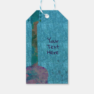Watercolor Guitar Musical Birthday Party Favor Gift Tags