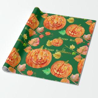 Watercolor Halloween Pumpkin Wrapping paper