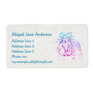 Watercolor Hamster Design - Personalize this Cute
