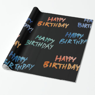 Watercolor happy Birthday Wrapping Paper