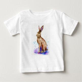 Watercolor hare portrait baby T-Shirt