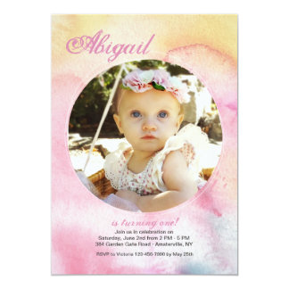 Watercolor Haze Photo Invitation