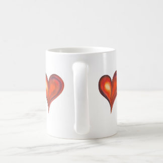 Watercolor heart in red shades mugs
