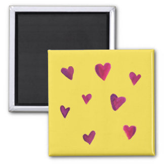 Watercolor Heart Melody Magnet