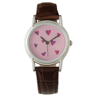 Watercolor Heart Melody Sweetheart Watch