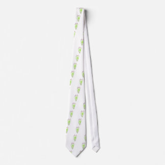 Watercolor herb chives illustration tie