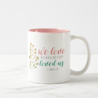 Watercolor Herb Christian Bible verse mug