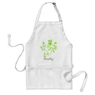 Watercolor Herb Parsley Illustration Standard Apron