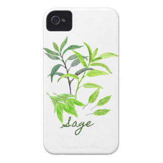 Watercolor herb sage illustration Case-Mate iPhone 4 case