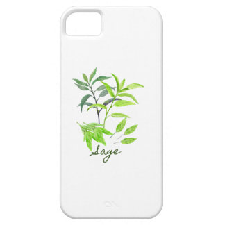 Watercolor herb sage illustration iPhone 5 case
