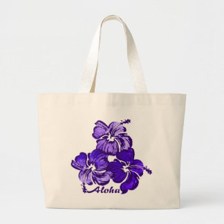 Watercolor Hibiscus Beach Bag