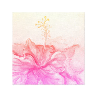 Watercolor Hibiscus Canvas Print