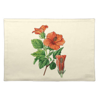 Watercolor Hibiscus Placemat