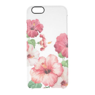 Watercolor hibiscus tropical iPhone 6/6s Clearly™ Clear iPhone 6/6S Case