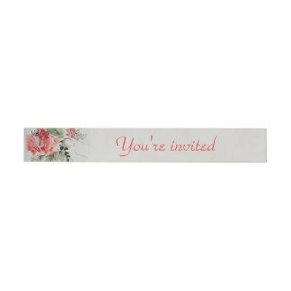 Watercolor Hibiscus Wedding Wraparound Address Label