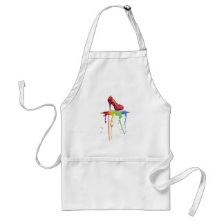 Watercolor High Heel Apron
