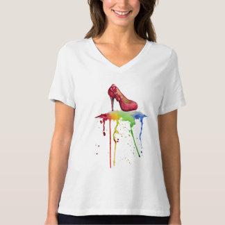 Watercolor High Heel T-Shirt