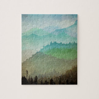 Watercolor Hills Jigsaw Puzzle