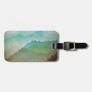 Watercolor Hills Luggage Tag