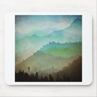 Watercolor Hills Mouse Pad