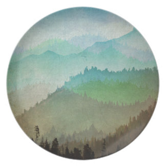 Watercolor Hills Party Plate