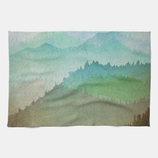 Watercolor Hills Towels