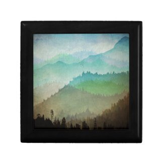Watercolor Hills Trinket Boxes