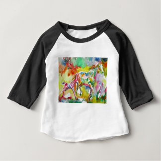 watercolor HORSE .17 Baby T-Shirt