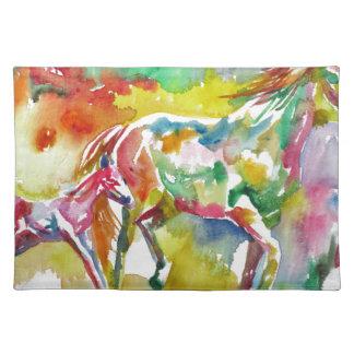 watercolor HORSE .17 Placemat